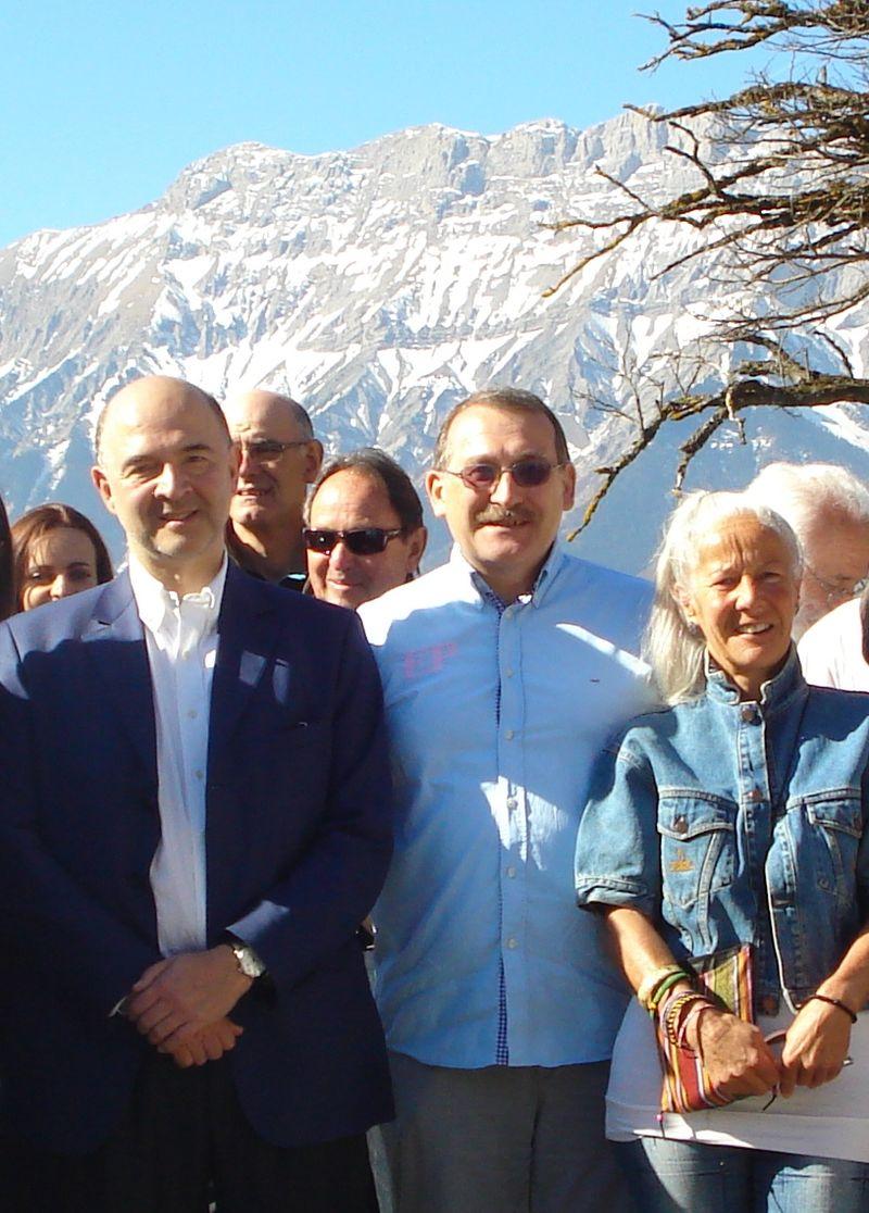 Joël, Claire et moscovici à St Firmin 310312