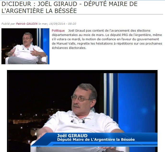 Invité DICI TV 150914