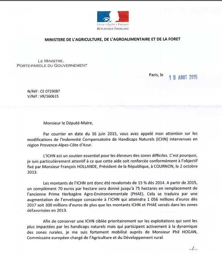 Réponse M LE FOLL ICHN 190815 -1
