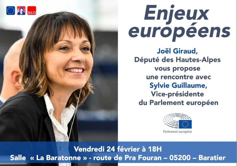 Rencontre avec Sylvie Guillaume députée européenne Baratier 24022017