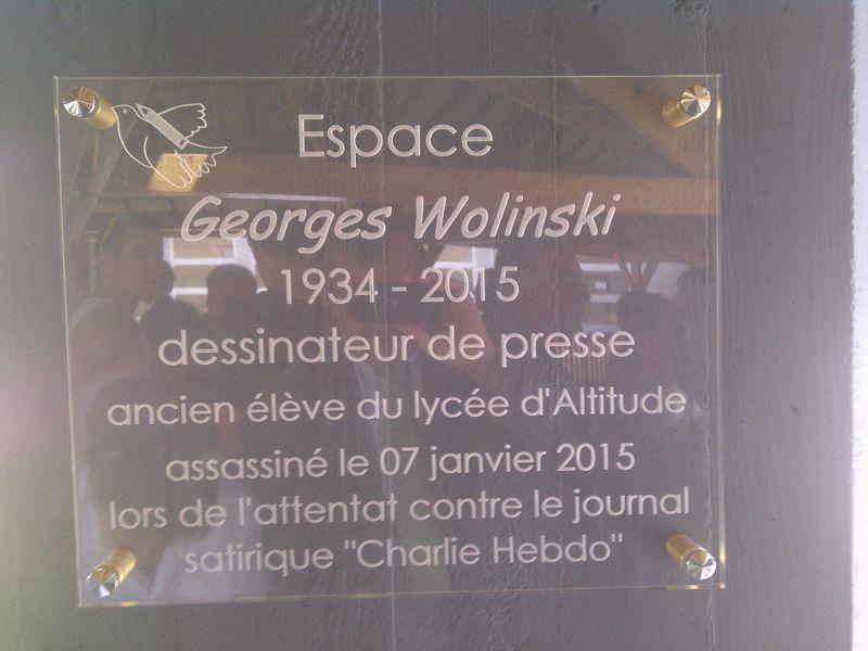 Plaque commémorative WOLINSKI