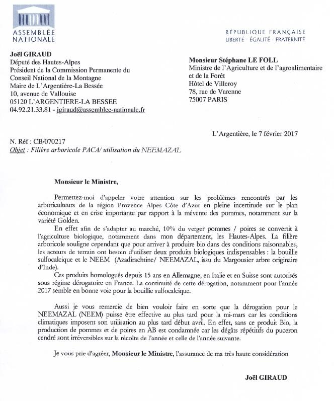 Lettre LE FOLL NEEM 080217