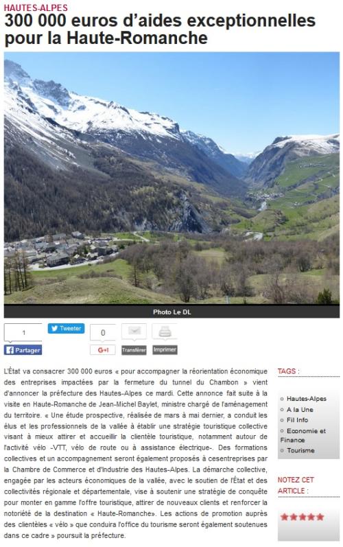 DL 300000euros d'aide à la Haute Romanche 200916