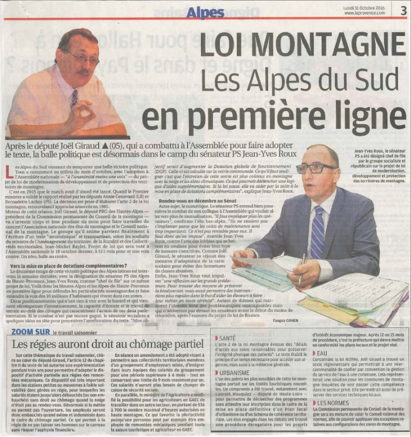 La Provence loi montagne 211016